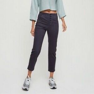 THE GROUP BABATON grey cropped ankle skinny 00